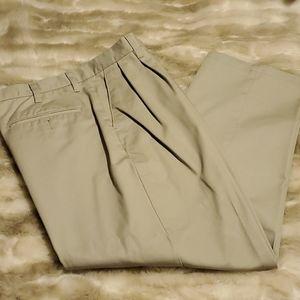 EUC classic Khaki pleated waist mens pants